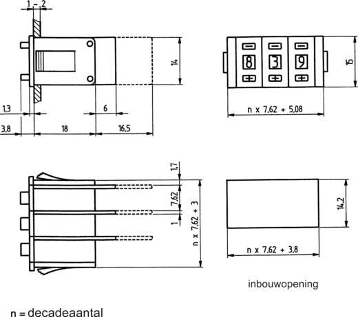 Hartmann PICO-DE-111AL2 Codeerschakelaar Decimaal 0-9 Schakelposities 10 1 stuks