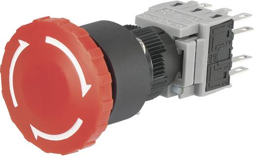 Noodstop schakelaar 250 V/AC 3 A 3x NC, 3x NO Conrad Components LAS1-BY-33TSA IP40 1 stuks