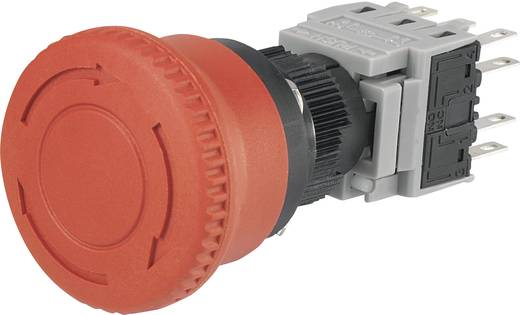 Noodstop schakelaar 250 V/AC 3 A 3x NC, 3x NO Conrad Components LAS1-BY-33TSB IP40 1 stuks
