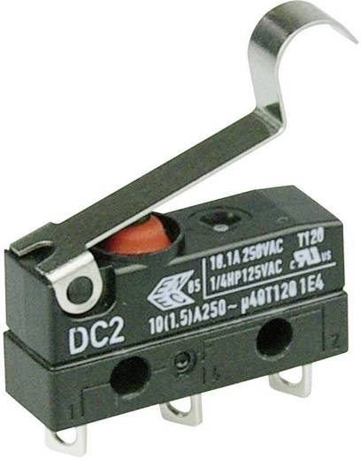 Cherry Switches DC2C-A1SC Microschakelaar 250 V/AC 10 A 1x aan/(aan) IP67 schakelend 1 stuks
