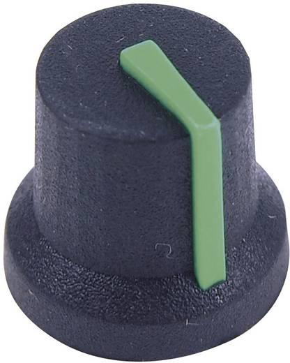 Cliff CL170852BR Draaiknop Zwart-groen (Ø x h) 16.8 mm x 14.5 mm 1 stuks