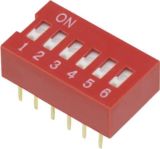 TRU Components DSR-06 DIP-schakelaar Aantal polen 6 Slide-type 1 stuks