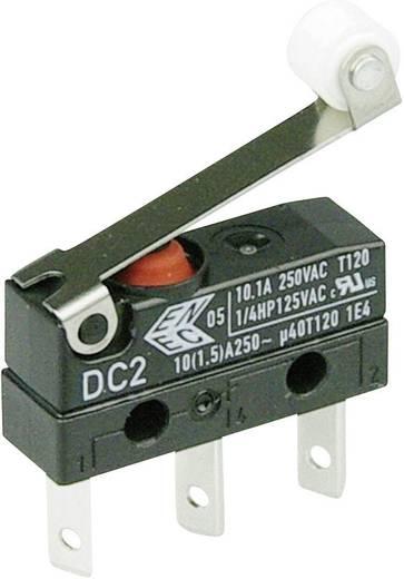Cherry Switches DC2C-L1RC Microschakelaar 250 V/AC 10 A 1x aan/(aan) IP67 schakelend 1 stuks
