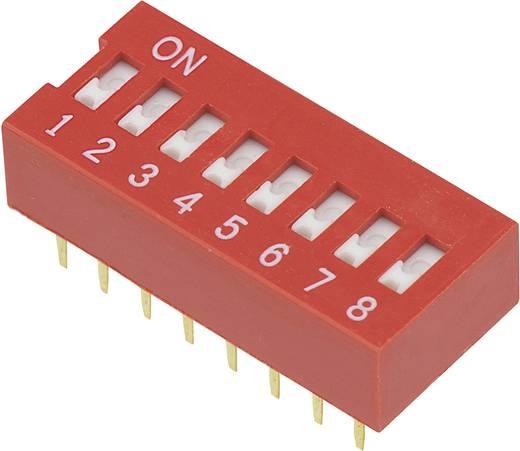 Conrad Components DSR-08 DIP-schakelaar Aantal polen 8 Slide-type 1 stuks