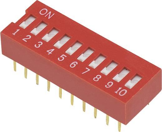 Conrad Components DSR-10 DIP-schakelaar Aantal polen 10 Slide-type 1 stuks