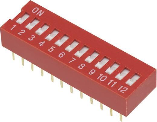 Conrad Components DSR-12 DIP-schakelaar Aantal polen 12 Slide-type 1 stuks