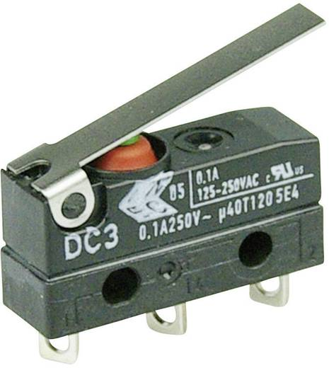 Cherry Switches DC3C-A1LC Microschakelaar 250 V/AC 0.1 A 1x aan/(aan) IP67 schakelend 1 stuks