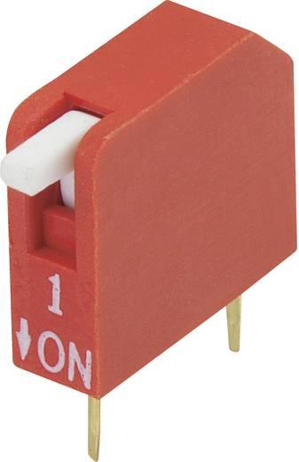 Conrad Components DP-01 DIP-schakelaar Aantal polen 1 Piano-type 1 stuks