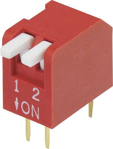 TRU Components DP-02 DIP-schakelaar Aantal polen 2 Piano-type 1 stuks