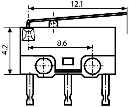 Saia X5G303K1ANJ1 Microschakelaar 250 V/AC 1.5 A 1x aan/(aan) IP40 schakelend 1 stuks