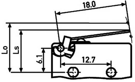 Saia XCG3J1Z1 Microschakelaar 250 V/AC 6 A 1x aan/(aan) IP40 schakelend 1 stuks