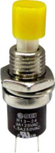 SCI R13-24B1-05 YE Druktoets 250 V/AC 1.5 A 1x aan/(uit) schakelend 1 stuks