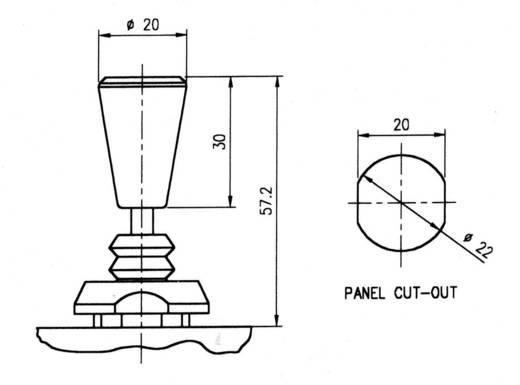 TH Contact S711001 Joystick 250 V/AC Tuimel Solderen 1 stuks