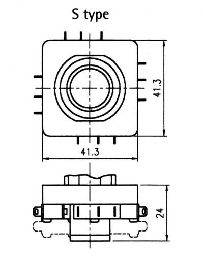 TH Contact S741001 Joystick 250 V/AC Tuimel Solderen 1 stuks
