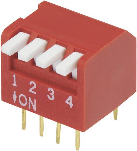 TRU Components DP-04 DIP-schakelaar Aantal polen 4 Piano-type 1 stuks