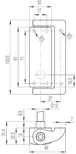 Pizzato Elettrica HP AA050C-2PN Deurvouwschakelaar 400 V/AC 4 A Glijdende hefboom schakelend IP69 K 1 stuks