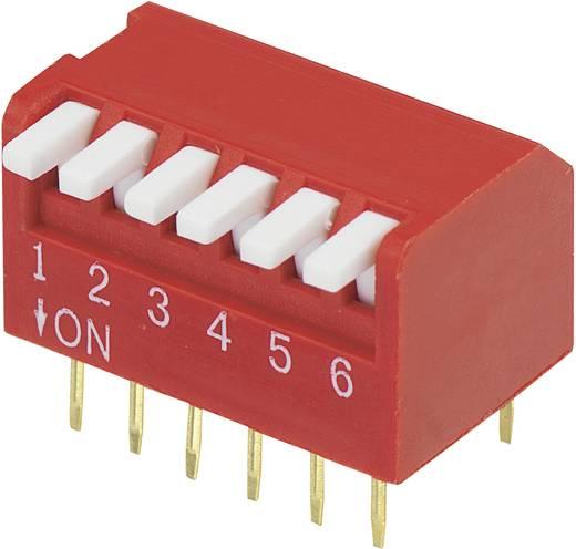 Conrad Components DP-06 DIP-schakelaar Aantal polen 6 Piano-type 1 stuks