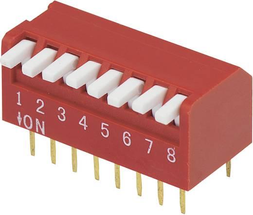 Conrad Components DP-08 DIP-schakelaar Aantal polen 8 Piano-type 1 stuks