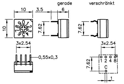 Hartmann P60A 703 Codeerschakelaar Hexadecimaal 0-9/A-F Schakelposities 16 1 stuks