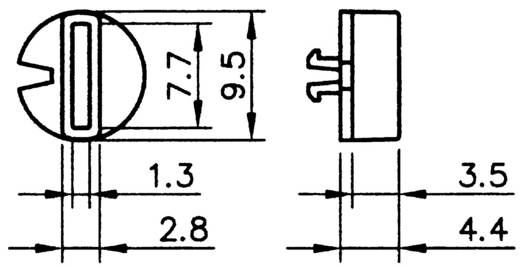 Hartmann SR-PT65 9,5/4,4 Segmentschakelknop Rood 1 stuks