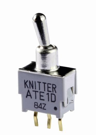Knitter-Switch ATE 1D-RA Tuimelschakelaar 48 V DC/AC 0.05 A 1x aan/aan vergrendelend 1 stuks