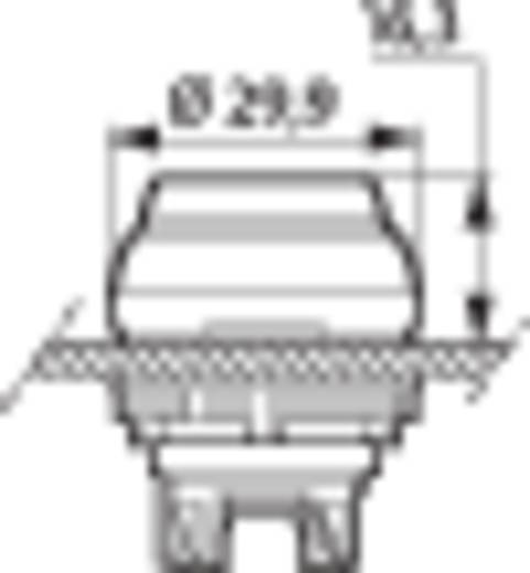 BACO L21CK10 Druktoets Kunststof frontring, Verchroomd Rood 1 stuks