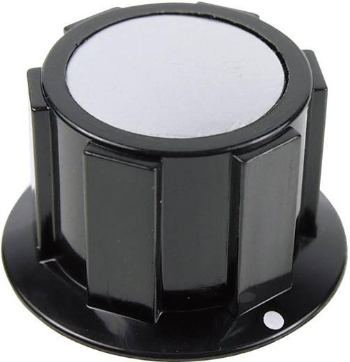 Cliff FC1616 Draaiknop Zwart, Zilver (Ø x h) 25.4 mm x 15.1 mm 1 stuks