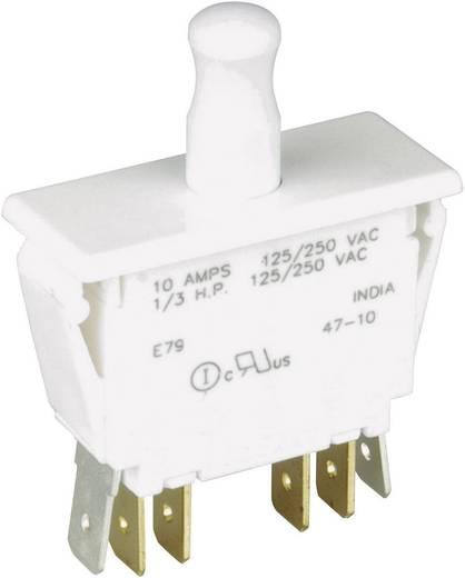 Cherry Switches E79-41B Druktoets 250 V/AC 10 A 2x aan/(aan) schakelend 1 stuks