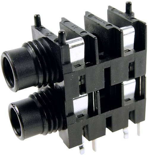 Cliff FCR1116 Jackplug 6.35 mm Bus, inbouw horizontaal Aantal polen: 2 Mono Zwart 1 stuks