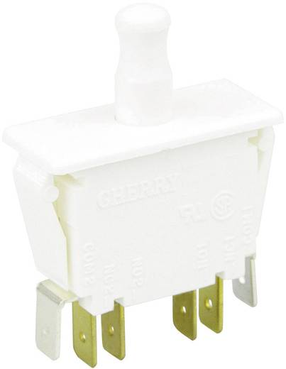 Cherry Switches F79-64A Druktoets 250 V/AC 10 A 2x aan/(aan) schakelend 1 stuks