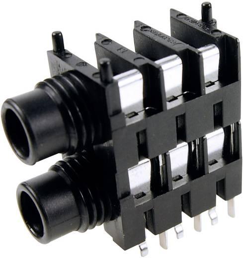 Cliff FCR1117 Jackplug 6.35 mm Bus, inbouw horizontaal Aantal polen: 3 Stereo Zwart 1 stuks