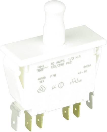 Cherry Switches F79-66A Druktoets 250 V/AC 10 A 2x aan/(aan) schakelend 1 stuks