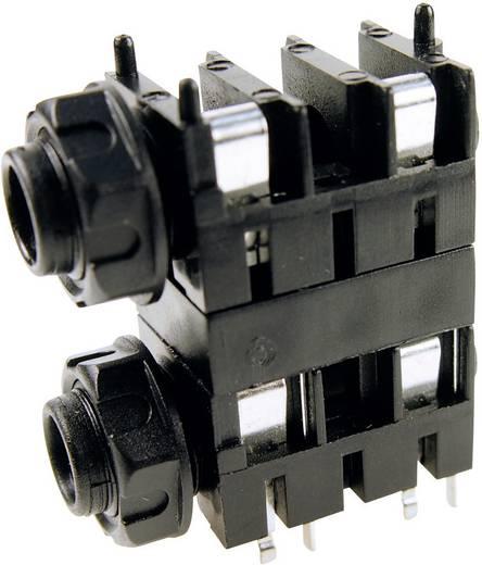 Cliff FCR1120 Jackplug 6.35 mm Bus, inbouw horizontaal Aantal polen: 2 Mono Zwart 1 stuks