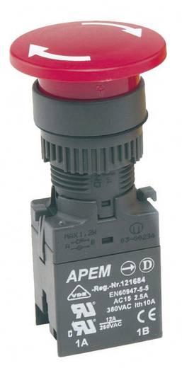 APEM A02ES Noodstopschakelaar Draai-ontgrendeling 1 stuks