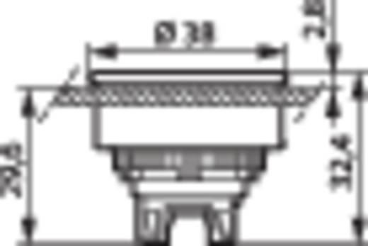 BACO L23CH10 Druktoets Metalen frontring, Verchroomd Rood 1 stuks