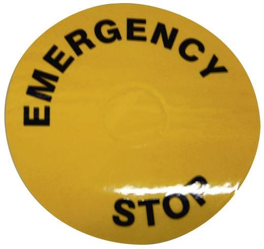 APEM A02YL1 Opdrukmotief EMERGENCY STOP 1 stuks