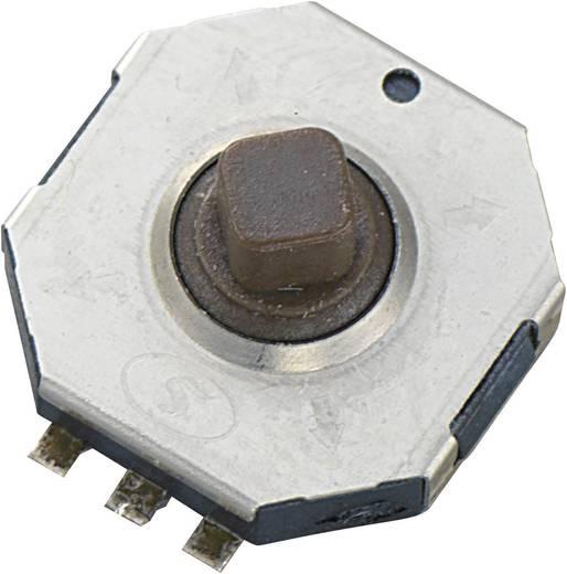 TSW10A Druktoets 12 V/DC 0.05 A 1x uit/(aan) schakelend 1 stuks