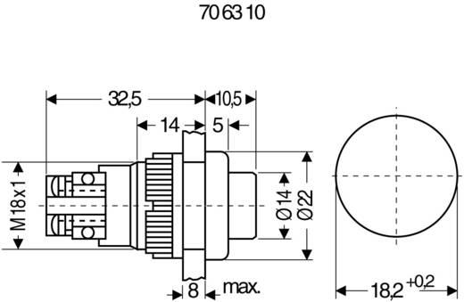 RAFI 101102001.0301 Druktoets 250 V/AC 2 A 2x uit/(aan) schakelend 1 stuks