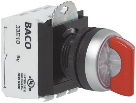 BACO L21KG30B Keuzetoets Kunststof frontring, Verchroomd Zwart 1 x 45 ° 1 stuks