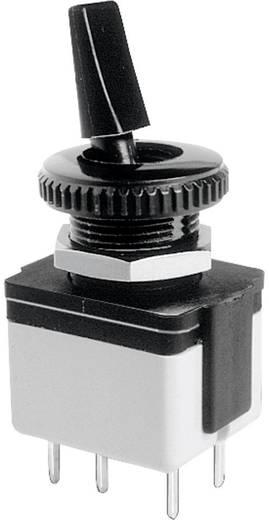 APEM 4641A-22 Tuimelschakelaar 250 V/AC 3 A 2x uit/aan vergrendelend 1 stuks