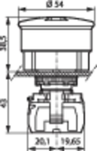 BACO L22DU01A Paddestoelschakelaar Kunststof frontring, Zwart Rood Trek-ontgrendeling 1 stuks