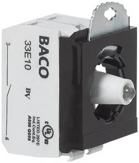 Contact element, LED-element Met bevestigingsadapter 1x NC, 1x NO Blauw schakelend 24 V BACO 333ERABL11 1 stuks
