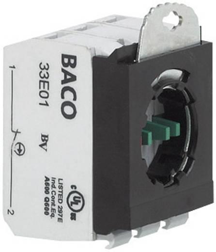 Contact element Met bevestigingsadapter 1x NC, 1x NO schakelend 600 V BACO 333E12 1 stuks