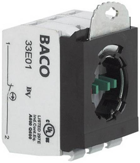Contact element Met bevestigingsadapter 2x NC schakelend 600 V BACO 333E02 1 stuks