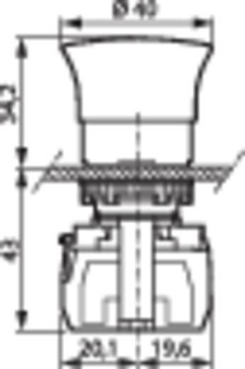 BACO L22DD01A Noodstop schakelaar Kunststof frontring, Zwart Rood Trek-ontgrendeling 1 stuks
