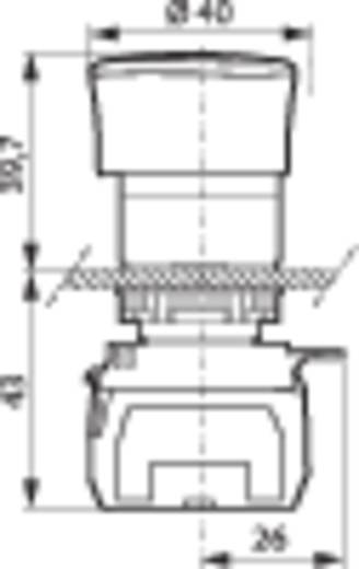 BACO L22ER01D Noodstop schakelaar Kunststof frontring, Zwart Rood Draai-ontgrendeling 1 stuks