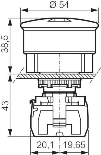BACO L22DU01G Noodstopschakelaar Kunststof frontring, Zwart, Met statusweergave Rood Trek-ontgrendeling 1 stuks