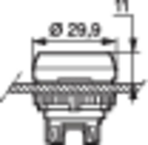 BACO L21AH10 Druktoets Kunststof frontring, Verchroomd Rood 1 stuks