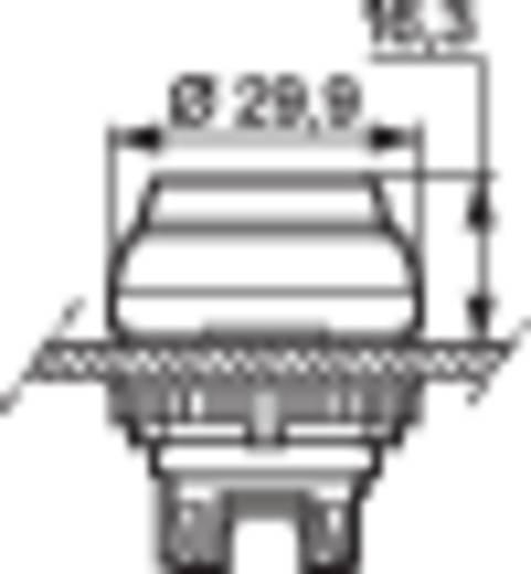 BACO L21AK40 Druktoets Kunststof frontring, Verchroomd Geel 1 stuks