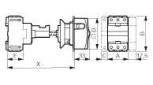 Lastscheidingsschakelaar Uitschakelbaar 25 A 1 x 90 ° Geel, Rood BACO 0165009 1 stuks